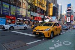 交通在时代广场 免版税图库摄影
