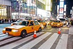 交通在时代广场,纽约 免版税库存照片