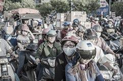 交通在胡志明市西贡 库存图片