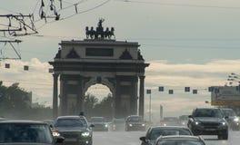 交通在莫斯科 免版税库存照片