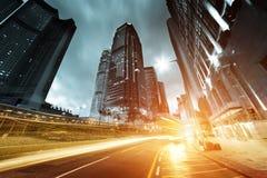 交通在香港 库存图片