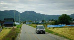 交通在马塔莫罗斯,日本 免版税库存图片