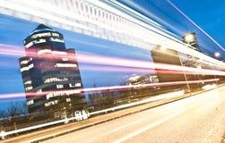 交通在财政区,布雷西亚,意大利 免版税库存照片
