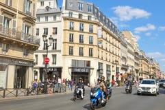 交通在巴黎 免版税图库摄影