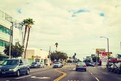 交通在L A 图库摄影