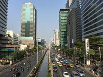 交通在Silom 免版税库存图片
