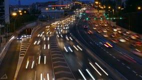 交通场面Cinemagraph在晚上 长期风险 影视素材