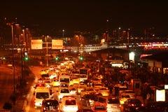 交通堵塞在伊斯坦布尔 免版税库存图片