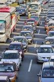 交通堵塞在北京中心商务区,中国 库存照片