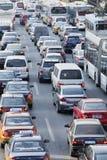 交通堵塞在北京中心商务区,中国 库存图片