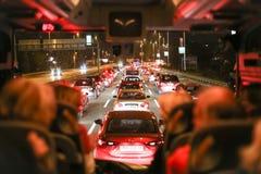 交通堵塞在城市 免版税库存照片