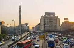 交通堵塞在开罗 免版税图库摄影