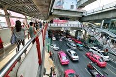 交通堵塞在曼谷 免版税库存照片