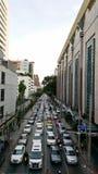 交通堵塞在泰国 免版税库存照片