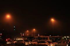 交通堵塞在耶路撒冷 免版税库存照片