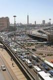 交通堵塞开罗 免版税库存图片