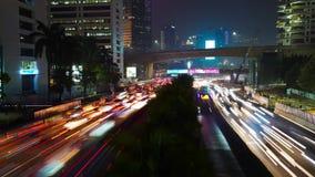 交通堵塞时间间隔英尺长度在晚上 影视素材