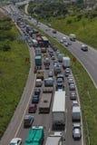 交通堵塞通信工具 图库摄影