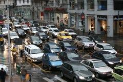 交通堵塞 库存照片