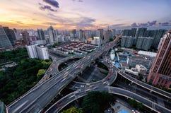 交通小时,上海 免版税库存照片
