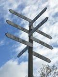 交通指南Signs_Portland,俄勒冈USA_8-27-17 免版税库存照片