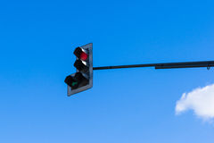 交通控制浅兰的天空 免版税库存照片