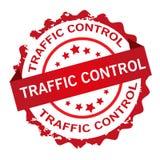 交通控制红色传染媒介邮票 库存照片
