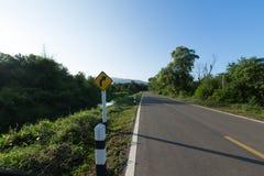 交通标志向右转 库存照片