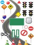 交通标志图标 免版税库存照片