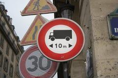 交通标志巴黎法国 免版税库存照片