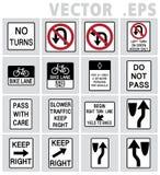 交通标志美国传染媒介 免版税库存图片