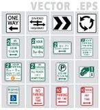 交通标志美国传染媒介 免版税库存照片