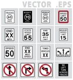 交通标志美国 图库摄影