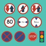 交通标志组装集合 图库摄影