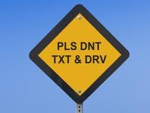 交通标志Texting 免版税库存照片