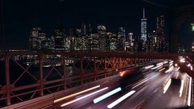 交通的纽约布鲁克林大桥 影视素材
