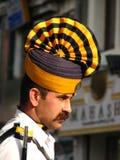 交通警在印度 免版税库存图片