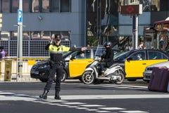 交通警,巴塞罗那 免版税库存图片
