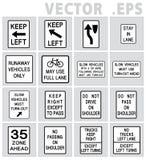 交通路标美国 库存图片