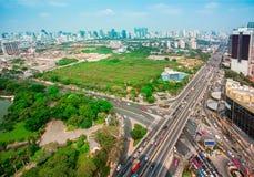 交通,交通堵塞,泰国,曼谷,公共汽车 免版税库存照片