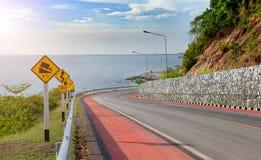 交通protecion的警告信号标志 免版税库存图片