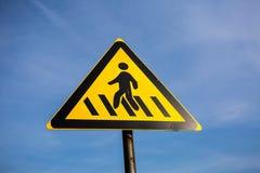 交通signï ¼ šcrosswalk 库存照片