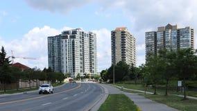 交通Timelapse在密西沙加,加拿大4K 股票录像