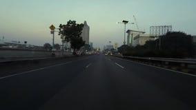 交通Timelapse英尺长度在雅加达市高速公路的 股票录像