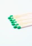 交错排列的绿色符合 免版税库存图片