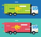 交付传染媒介卡车 service van silhouette 免版税库存图片