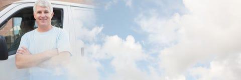 交付传讯者和搬运车有transition_Delivery_0010的 免版税库存照片