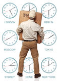 交货时间区域 图库摄影
