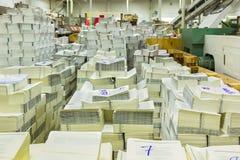 交付的完整出版物到出版的顾客 免版税图库摄影