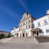 亦称圣塔伦看见大教堂诺萨Senhora da康塞桑教会 免版税库存照片